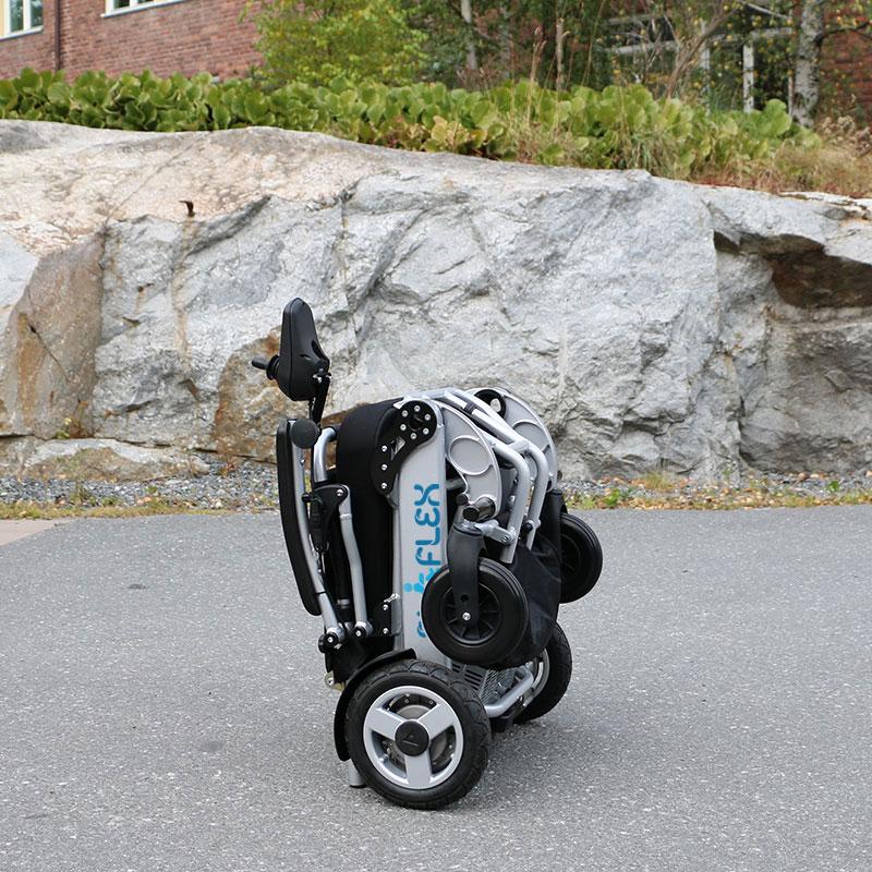eloflex foldable power electric wheelchair portable compact lightweight